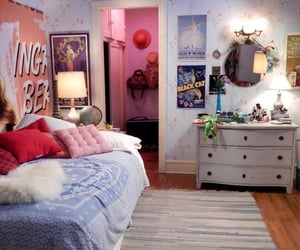 bedroom, teen, and pink image
