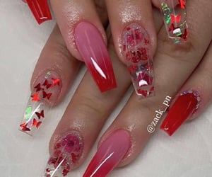 long nails, nail art, and nails image