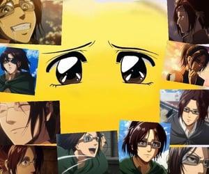 anime, shingeki no kyojin, and hange image