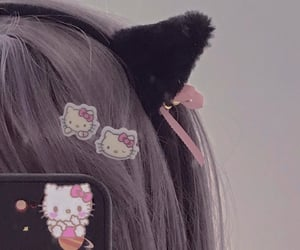 cute, aesthetic, and cat ears image