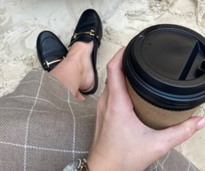 clothes, coffee, and drink image