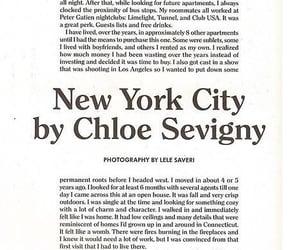 article, new york city, and Chloe Sevigny image