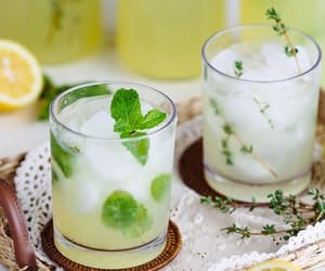drink, herb, and mint image