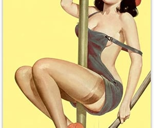 art, pinup, and paint pinup image