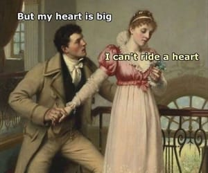 funny, meme, and heart image