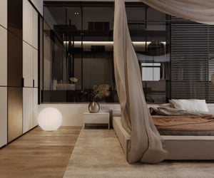 bedroom, contemporary, and interior decorating image