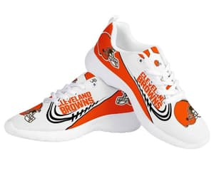 cleveland browns, tennis shoes, and custom sneakers image