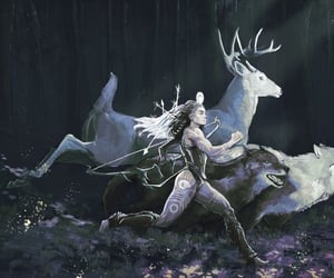artemis, huntress, and hunter image