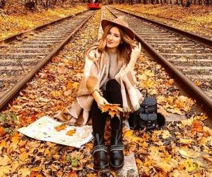 autumn, train, and beautiful image