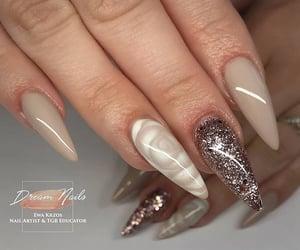 elegant, manicure, and sparkle image