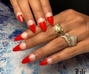 accessories, classy, and red nails image