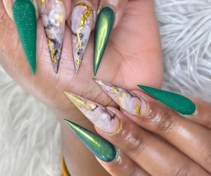claws, long nails, and manicure image