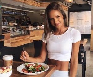 girl, theme, and food image