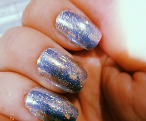 nails, sparkles, and prism image
