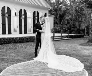 justin bieber, hailey bieber, and wedding image