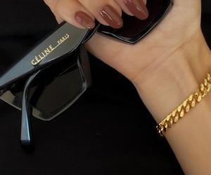 bracelet, nails, and sunglasses image