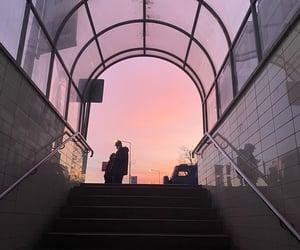 mornin, metro, and sunset image