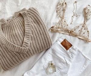 bra, fashion, and sweater image