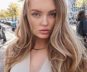 blonde, model, and romee strijd image