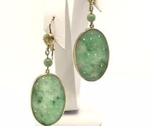 etsy, chandelier earrings, and vintage earrings image