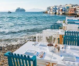 travel, Greece, and sea image