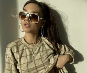 glam, model, and sunglass image