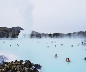 blue lagoon, pool, and iceland image