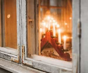 candle, winter, and chandelier image