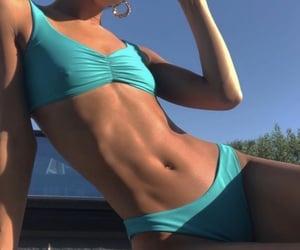 bathing suit, bikini, and blue image