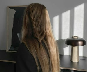 girl, hair, and trenza image