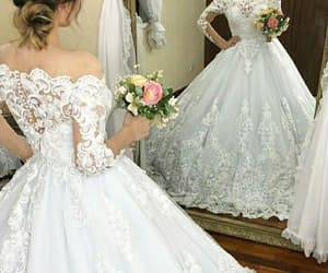 wedding ball gown, vestido de novia, and elegant wedding dresses image