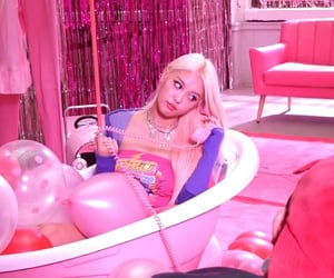 girl, pink, and baddie image