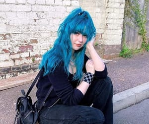 dyed hair, blue hair, and alternative style image