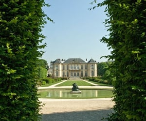 france, garden, and green image