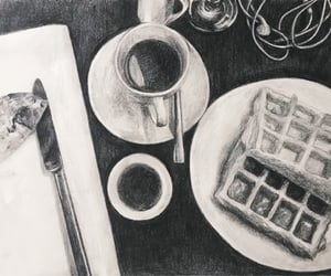 charcoal drawing, aesthetic, and art image