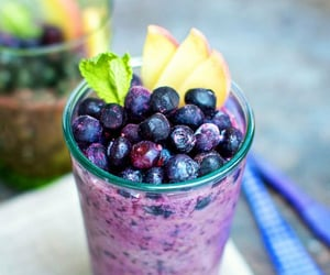 food, fruit, and smoothie image