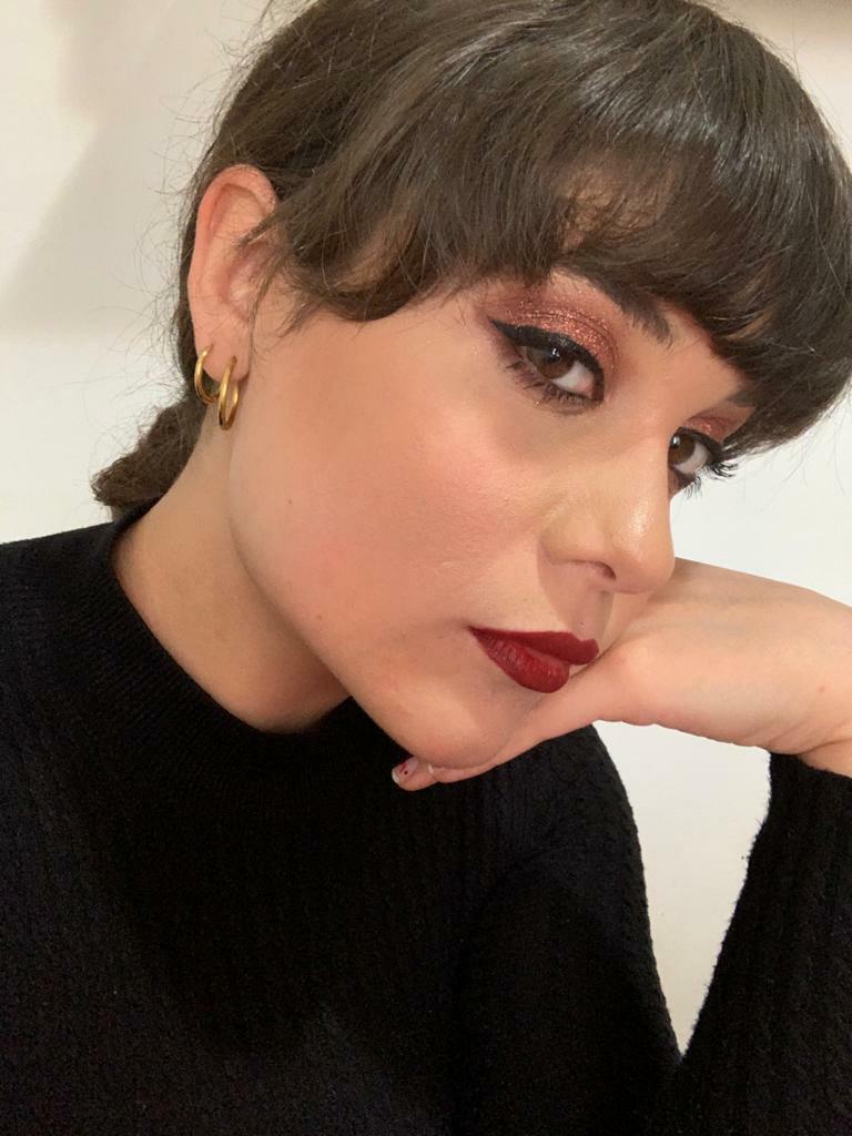 aesthetic, earrings, and eyeliner image