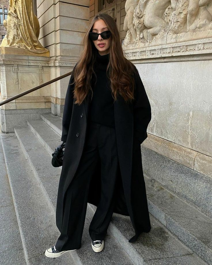 all star, black coat, and blogger image
