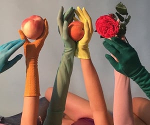 aesthetic, fruit, and gloves image
