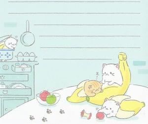 banana, blue, and cat image