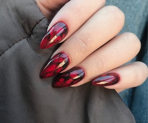 fashion, marble, and nails image