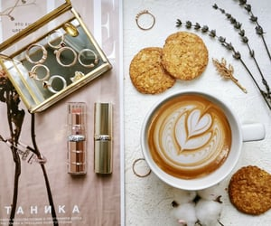 coffee, glam, and lips image
