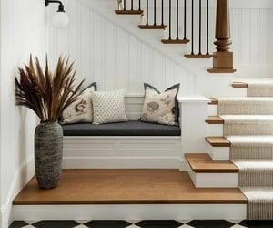 bench, hallway, and home decor image