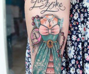 tattoo and dress image