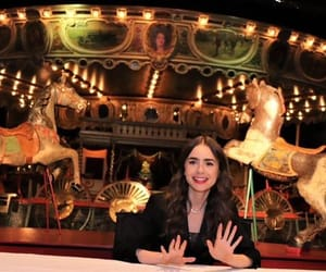 lily collins, les miserables, and emily in paris image