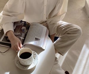 coffee, book, and simple image