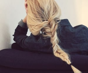 blond, casual, and hair dye image