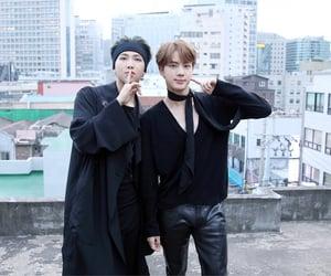 jin, seokjin, and kim namjoon image
