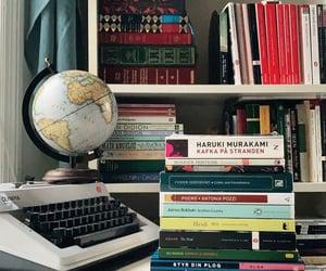 antique, bookworm, and desk image