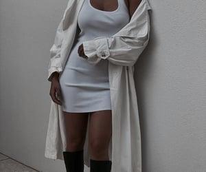 coat, dress, and fashion image
